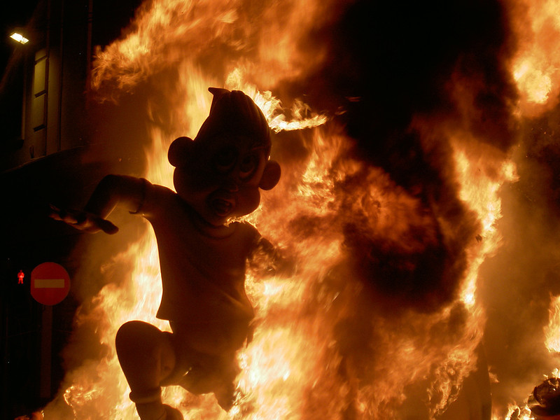 Las Fallas is the biggest party in the world where Valencia becomes one gigantic celebration, with fireworks, street dancing & a parade.