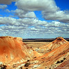 Now this is more the Australia that I imagined, although I never thought that the outback could be quite so weirdly colourful. This is the Painted Desert, just outside the underground mining towm of Coober Pedy. It's not hard to see where the name came from!