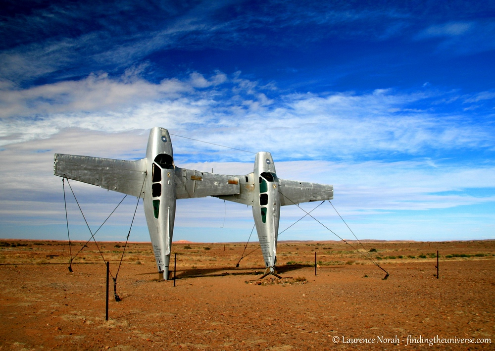 Speaking of art, here's another wacky bit of outback sculpture, found out on the Oodnadatta Track in South Australia. This one is called Planehenge.