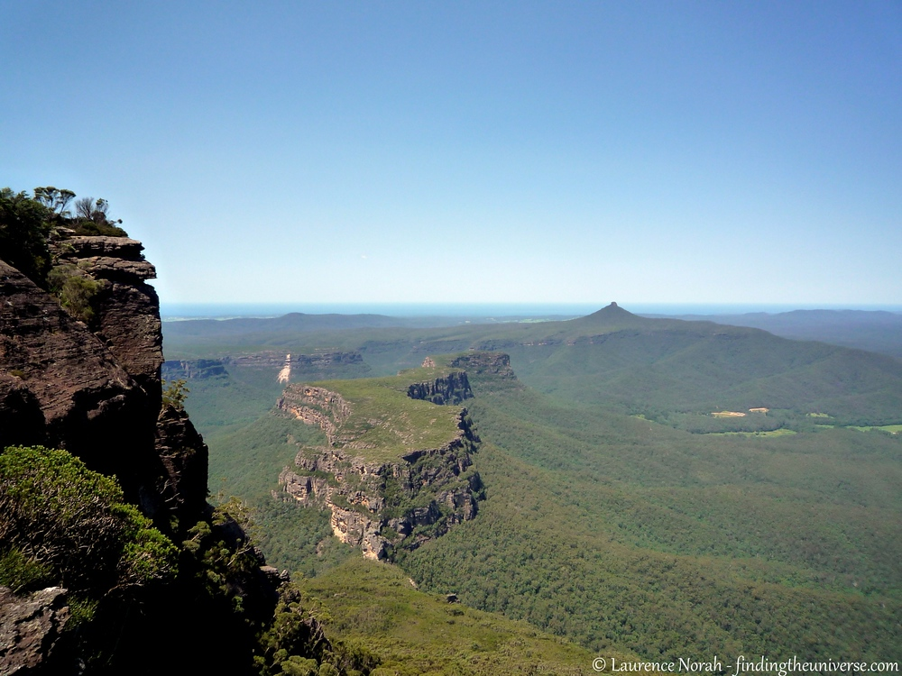"""Castle Rock, NSW : I mentioned mountains I believe. This is the view from the top of the """"Castle"""" in Morten National Park across to the New South Wales coastline. This walk was probably one of the toughest day hikes I've ever done,"""