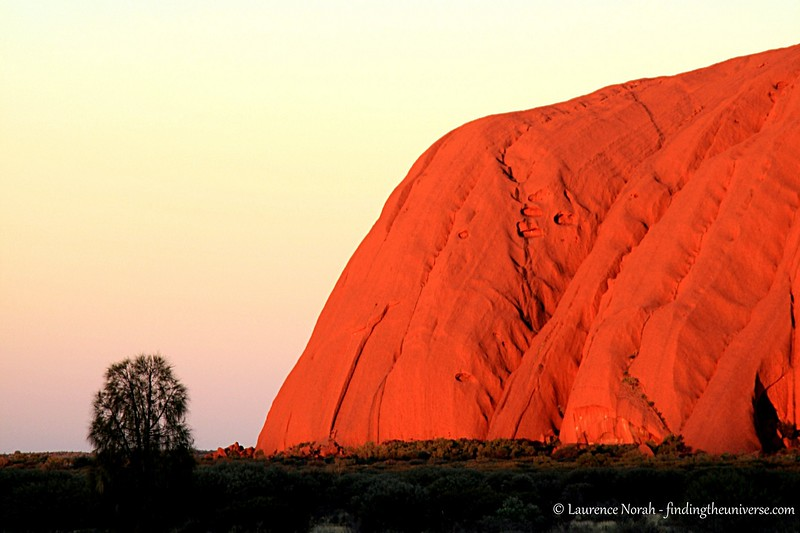 """© Laurence Norah - findingtheuniverse.com : This is Uluru at sunset. It's a bloody long way from anywhere, and it's """"just a rock""""... but wow. What a rock!"""