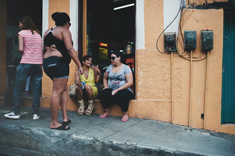 Ladies gossiping on the streets of St. Theresa, Rio de Janeiro, Brasil