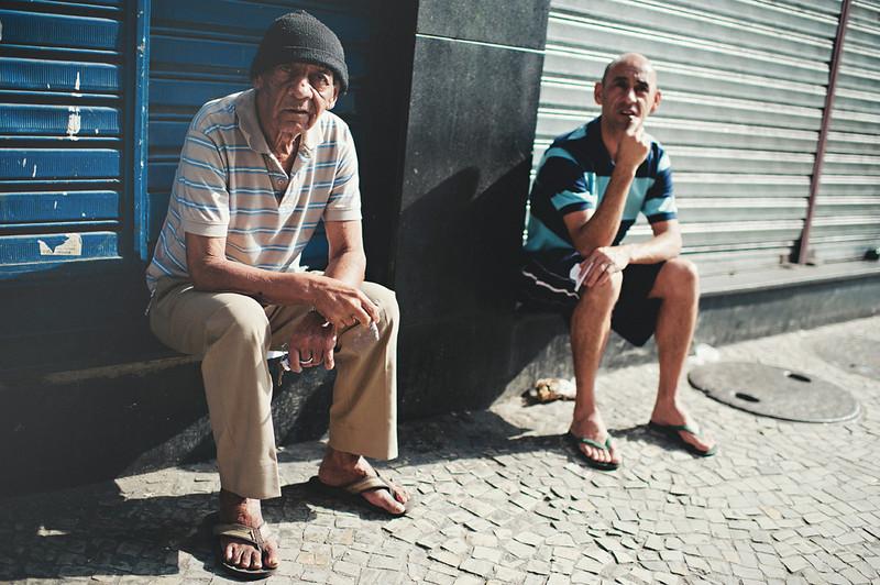 Smoking and socializing on the streets of Rio de Janeiro, Brasil