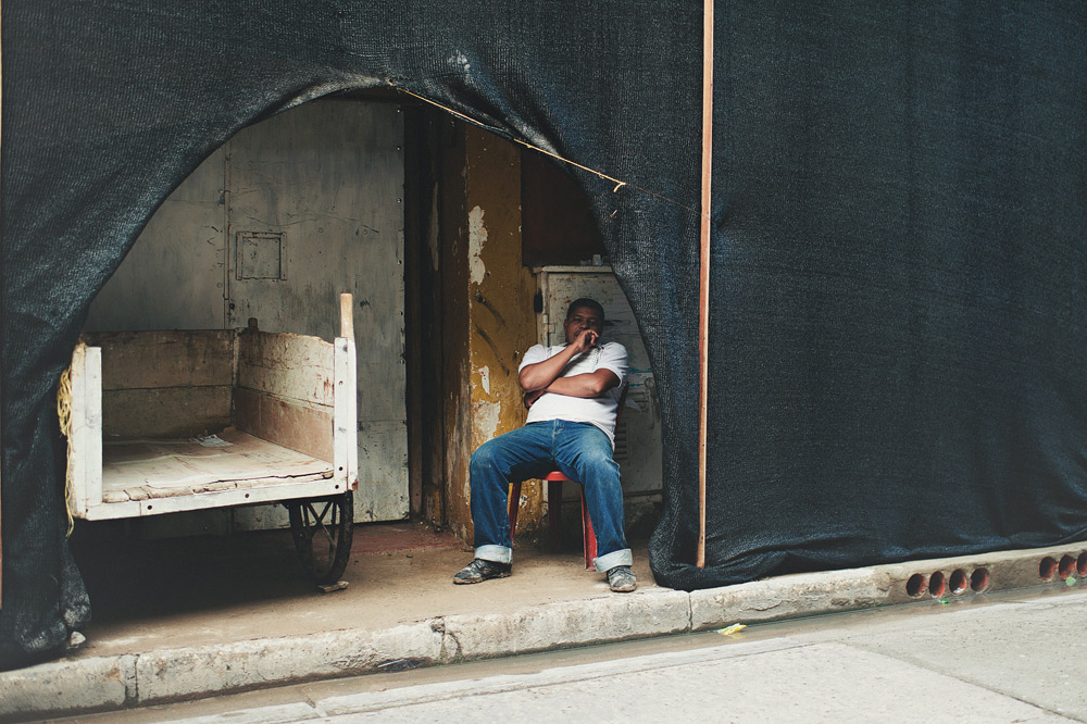 A worker rest in a construction area in Cartagena, Colombia
