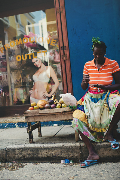 The clash of cultures on the streets of Cartagena, Colombia