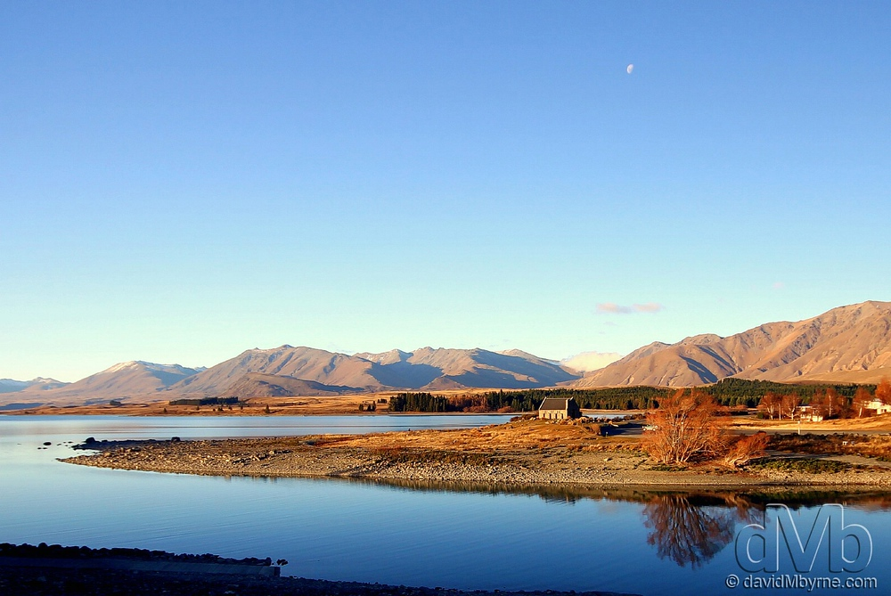Sunset at The Church of The Good Shepard on the shores of Lake Tekapo.
