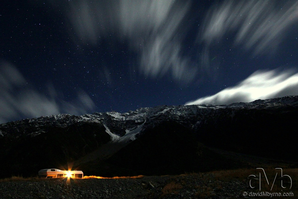 The snow-capped peaks of Mount Cook National Park