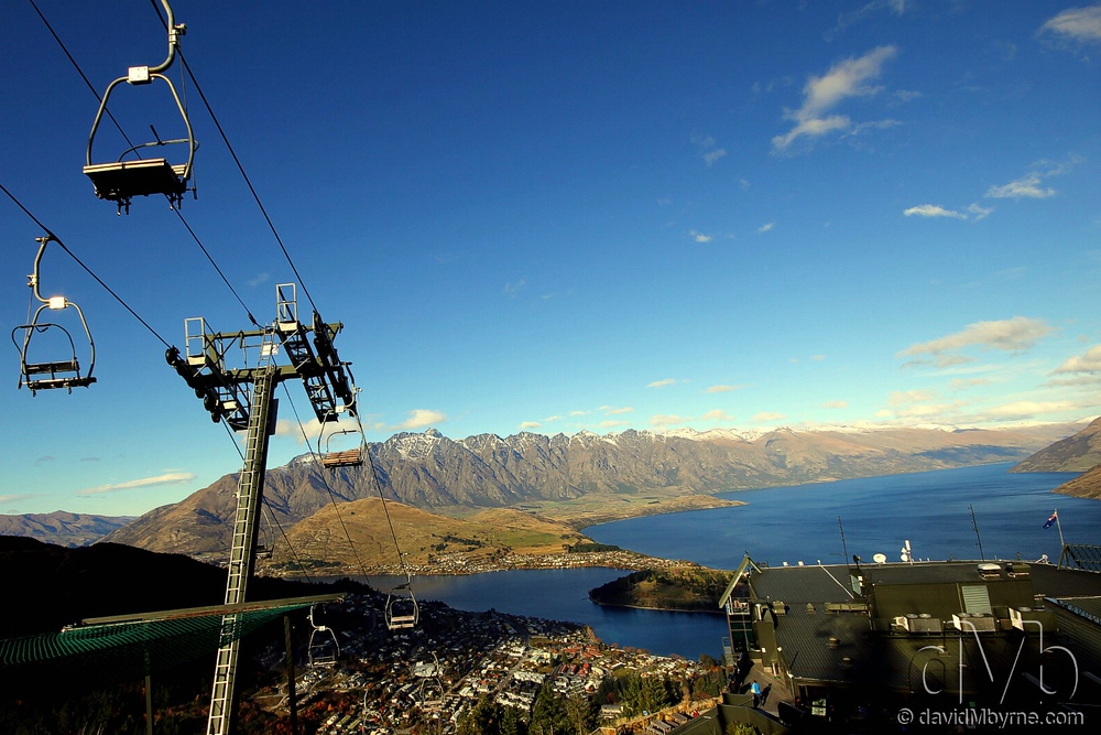 Queenstown, the adventure/adrenalin capital of the Southern Hemisphere, as seen from Bobs Peak