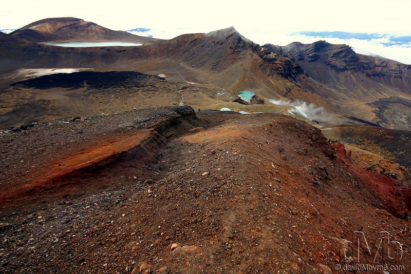 Volcanic topography in the heart of the Tongariro National Park.