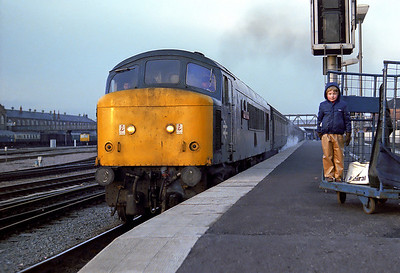 46026 stands at Doncaster station on a SB working, 1981. Yes that is me looking on from the trolley in the best pair of plastic trousers ever :-)