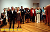 VIPs, including Dali's friend Louis Markoya, forground left, and Markoya's girlfriend Diane McCafferty, tour the Salvador Dali exhibit at Atlanta's High Museum before the grand opening on Monday, Aug. 2, 2010. The exhibit opens to the public on Saturday.  (Jenni Girtman)