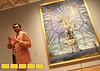 "Elliott King leads the tour past the ""Santiago el Grande"" at The High Museum in Atlanta, GA during a gala reception of the Salvador Dali exhibit  on Monday, Aug. 2, 2010 in Atlanta, GA.  (Jenni Girtman for The Telegraph-Journal)"
