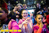 Getting excited as the elephants kick beach balls into the crowd, 12-year-old Emily Creed of Lawrencevill has a ring side seat for the elephant preshow.  Gas South invites hundreds of special needs families to an exclusive pre-show event at the Ringling Brothers Circus at the Infinate Energy Center on Friday, Feb 19, 2016.  (Jenni Girtman/ Atlanta Event Photography)