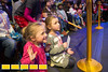 On the look out for beachballs flying into the crowd, Laney Oswalt, 5 and her sister Callie Oswalt, 4, get as close as they can to the elephant preshow.  Gas South invites hundreds of special needs families to an exclusive pre-show event at the Ringling Brothers Circus at the Infinate Energy Center on Friday, Feb 19, 2016.  (Jenni Girtman/ Atlanta Event Photography)