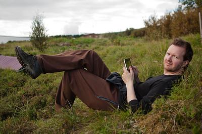iPadinn mátaður við sumarbústaðalóðina og smellpassaði.