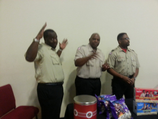 2013 Kappa Troop being recognized at Long Branch Baptist Church