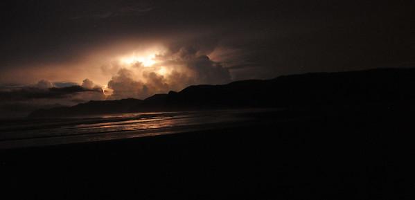 lightening beach