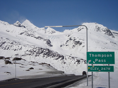 The road over Thompson Pass near Valdez. Possibly the best roadside ski touring in the world!