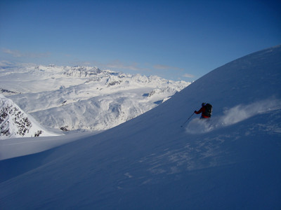 Amazing powder at 5 in the evening!