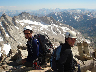 Resting on the summit looking deep into Yosemite National Park