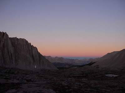 Sunset in the Eastern regions of Sequoia National Park