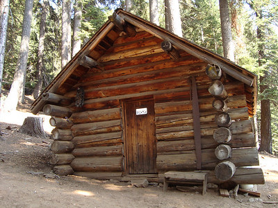 The old ranger cabin at Bearpaw Meadows