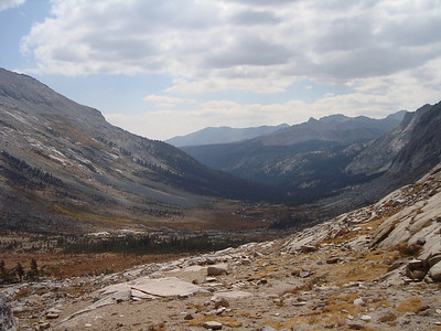 Looking down the Big Arroyo deep into Sequoia National Park