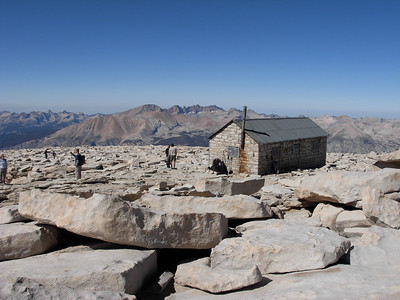 The summit plateau of Mount Whitney, the highest point in the lower 48 states