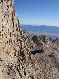 A view towards the East and down into the Owens Valley from high on the Whitney Trail