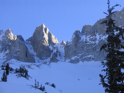 Matterhorn Peak in winter, The Sawtooths Range's highest peak