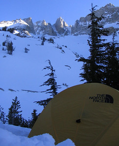 A view of Matterhorn peak from our high camp