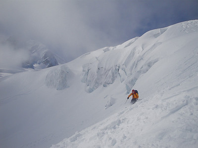 Skiing the Plan de Envers Glacier