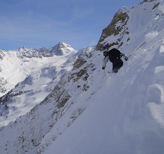 Dropping in to some sweet stuff in an obscure area near Le Tour