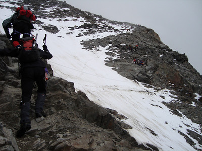The Grand Couloir on the approach to the Gouter Hut
