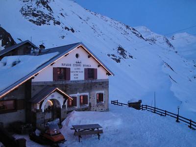 Evening at the Branca hut
