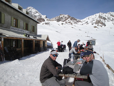 The deck of the Pizzini hut
