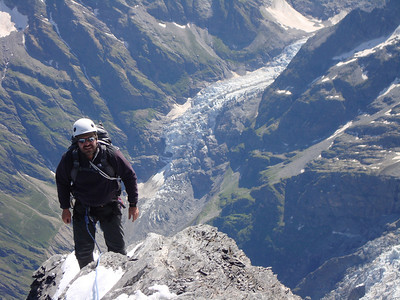 Climbing high on the Eiger