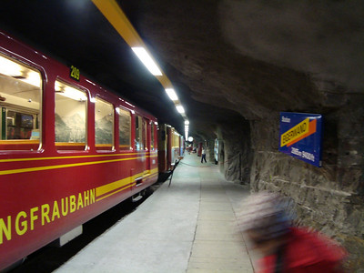 The train station in the middle of the Eiger where we begin our climb of the Mitellegi Ridge