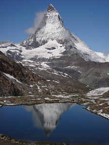 The Matterhorn reflected in the Riffelsee.