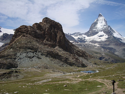 The Riffelhorn, another great training climb for the Matterhorn. We climb the steep South side (opposite).