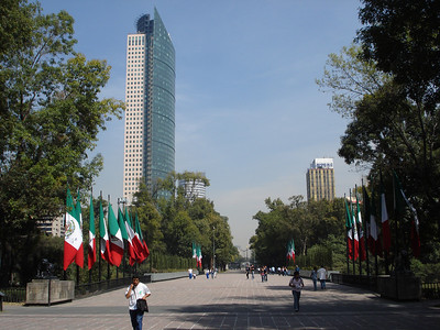 A view of Mexico City from Chaupultepec Park