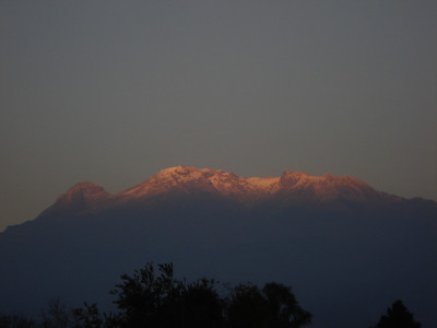 Iztaccihuatl. The sleeping woman