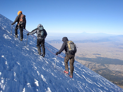 Climbing on the Jamapa Glacier