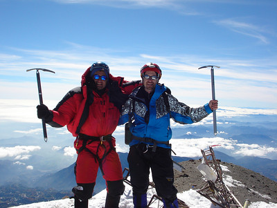 The summit of Orizaba (18,500 ft), North America's 3rd highest peak.