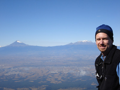 A great view of the volcanoes, Popo and Izta, from near the summit of La Malinche