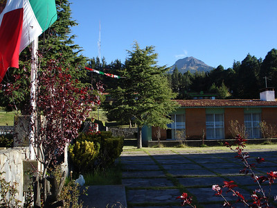 A view of our acclimating peak, La Malinche from the the comfortable resort at the trailhead