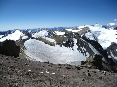 As you ascend Aconcagua, the rest of the Andes seem to shrink beneath you.