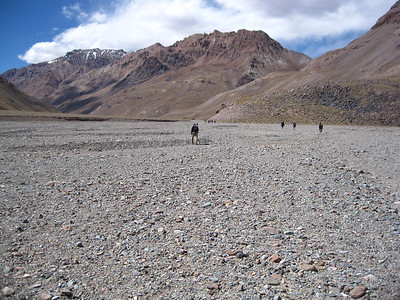 Hiking up the Vacas Valley on Day 2 of the trek to our Base Camp of Plaza Argentina.