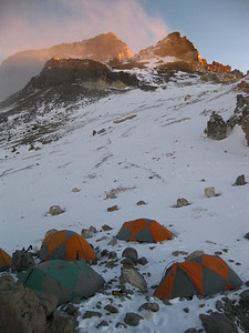 Another high camp on the Polish Traverse route.