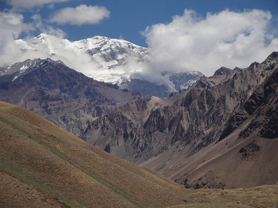 A view of the impressive South Face of Aconcagua